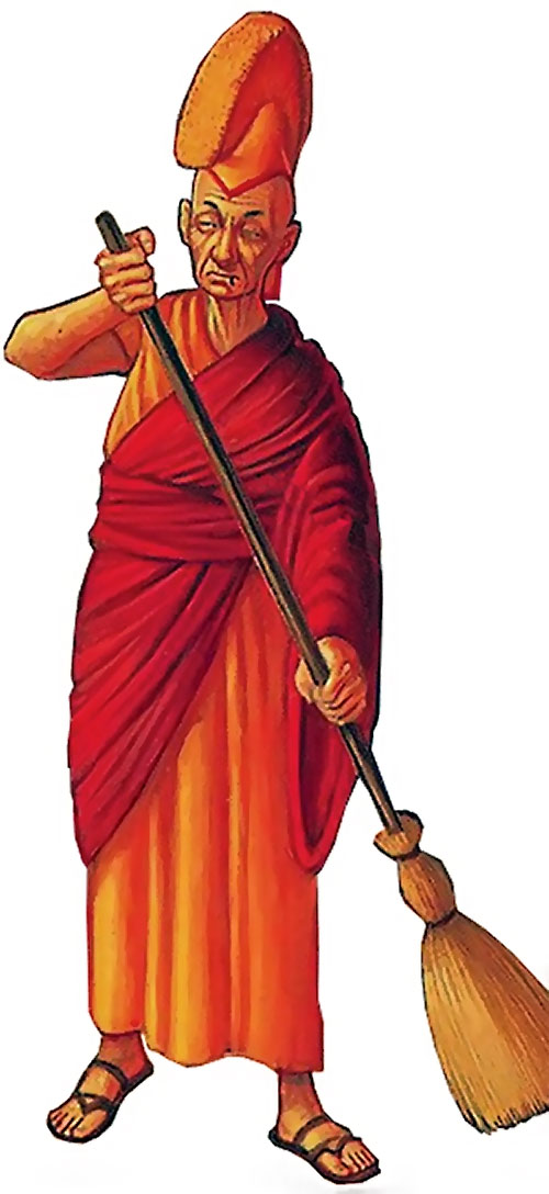 Lu-Tze the sweeper (Pratchett's Discworld)