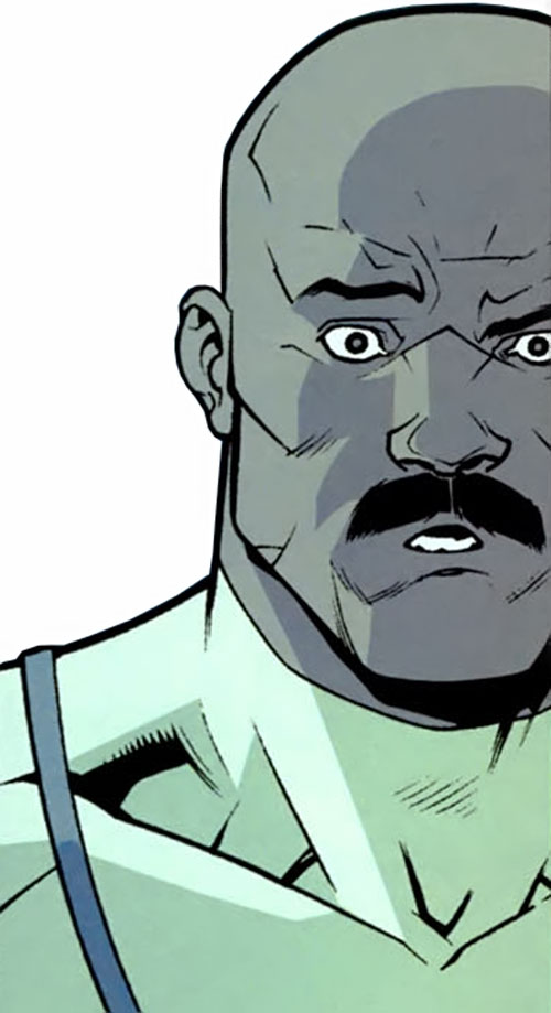 Lucan of the Viltrumites (Invincible Comics) surprised face closeup