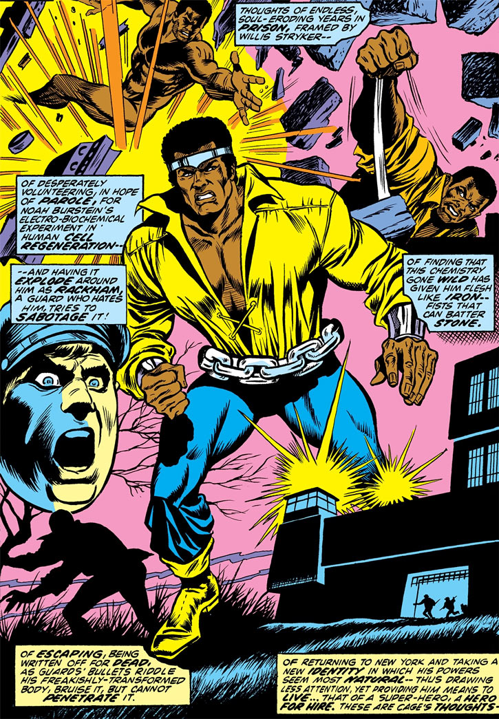 Luke Cage origin flashback / recap