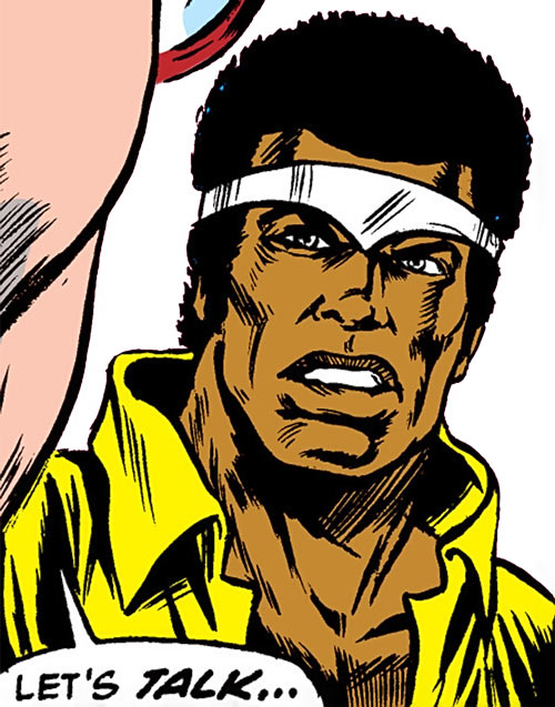 Luke Cage the 1970s hero for hire (Marvel Comics) is dubious