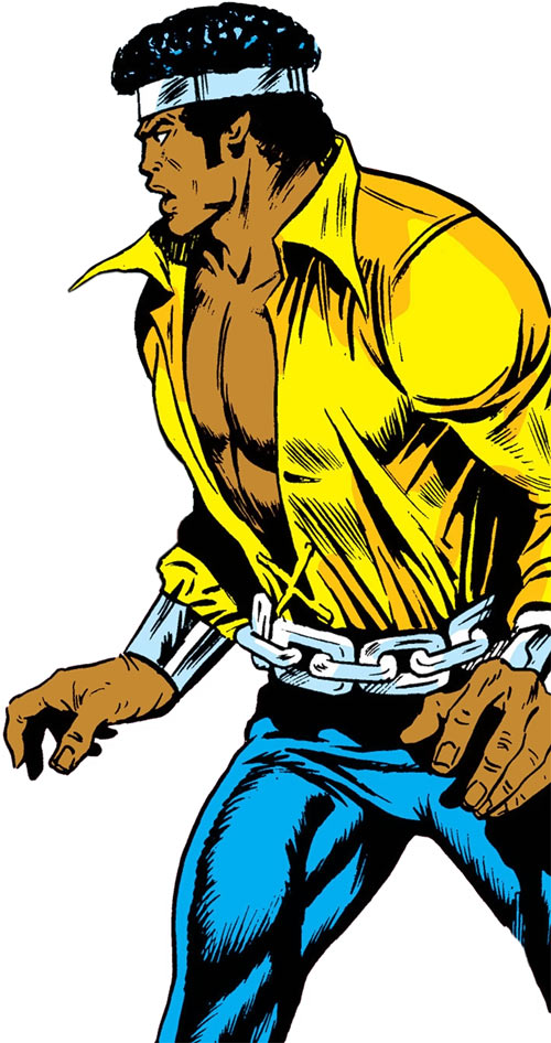 Luke Cage the 1970s hero for hire (Marvel Comics) surprised