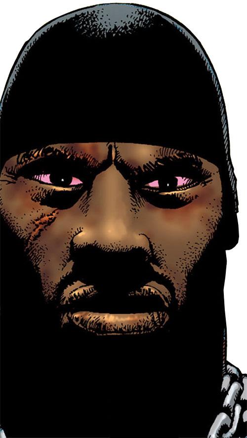 Luke Cage (Marvel Comics) scary face closeup