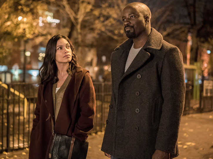 Luke Cage (Netflix version) character profile - with Claire - Rosario Dawson