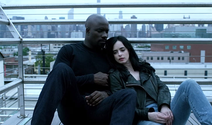 Luke Cage (Netflix version) character profile - resting with Jessica Jones