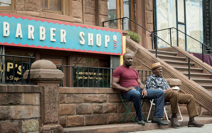 Luke Cage (Netflix version) character profile - Pop's barber shop
