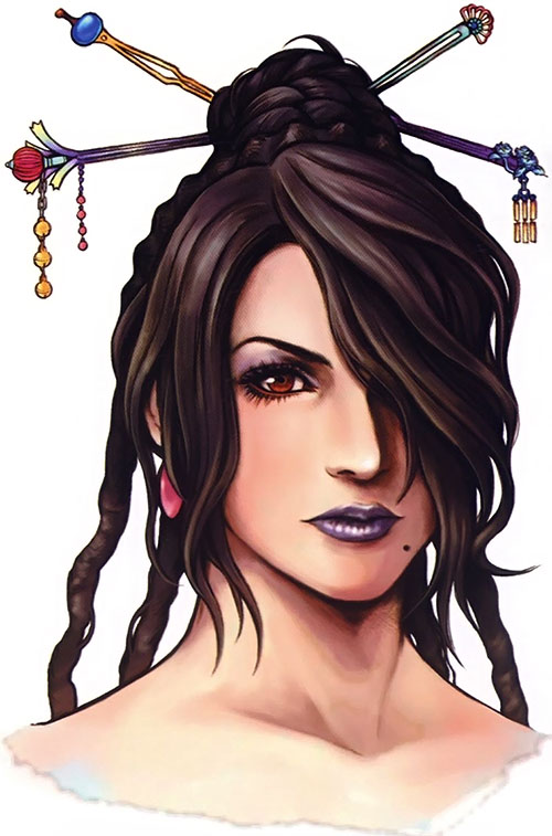 Lulu (Final Fantasy X) face closeup