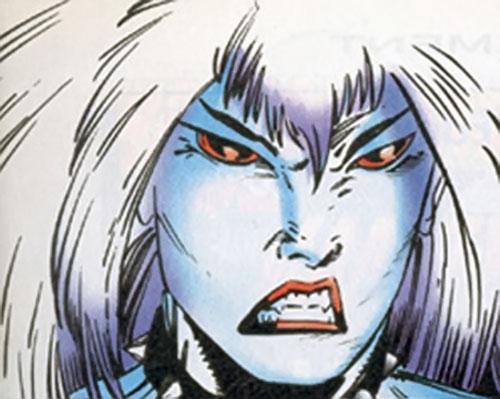 La Lunatica (X-Men 2099) (Marvel Comics) face closeup