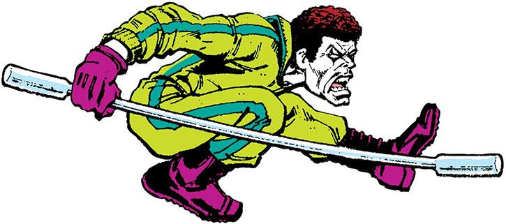 Lunatik (Marvel Comics) with his giant Q-tip staff