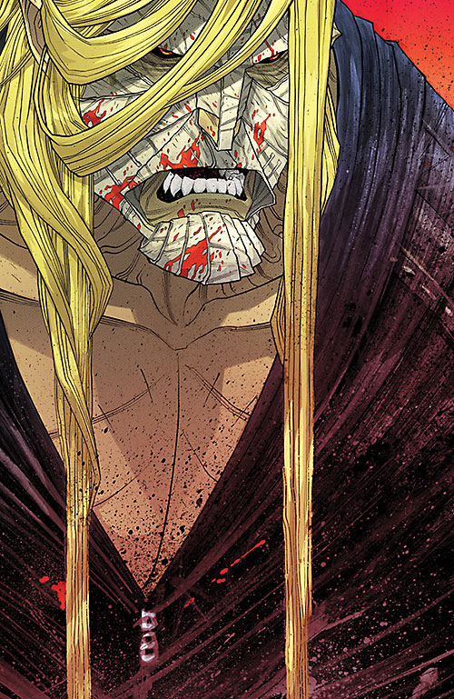 Luther Strode (Image Comics) bloodied face