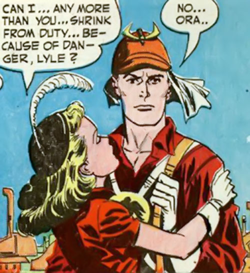 Lyle of the Galaxy Knights (DC Comics) with the girl