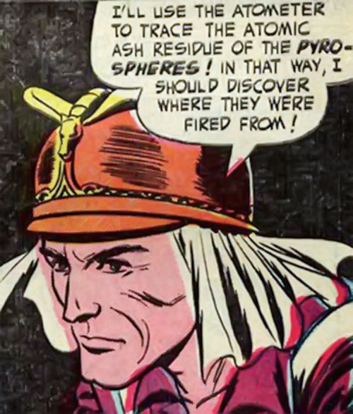 Lyle of the Galaxy Knights (DC Comics) face closeup with French Foreign Legion hat