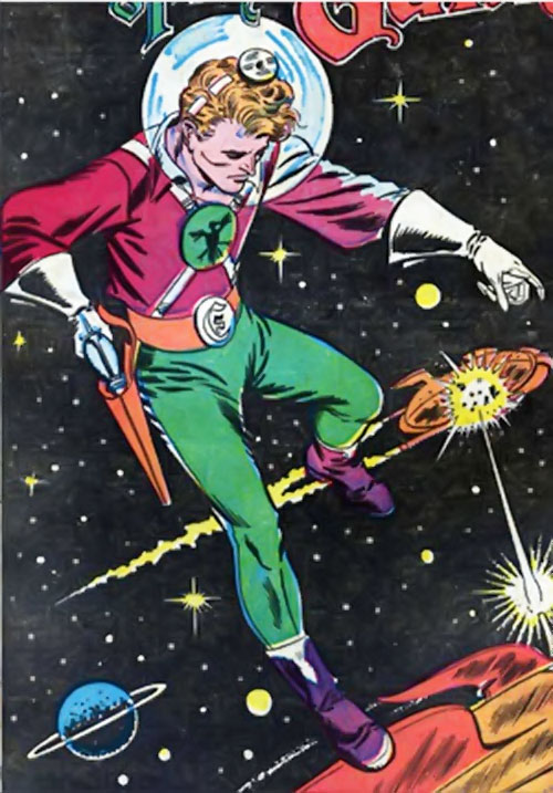 Lyle of the Galaxy Knights (DC Comics) and a space battle