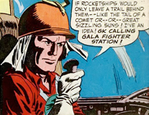 Lyle of the Galaxy Knights (DC Comics) in the cockpit