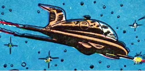 Lyle of the Galaxy Knights (DC Comics) small spaceship