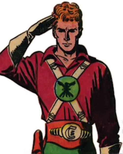 Lyle of the Galaxy Knights (DC Comics) saluting