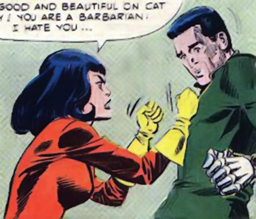Lynx (Sarge Steel enemy) (Charlton Comics) and the man with the iron fist