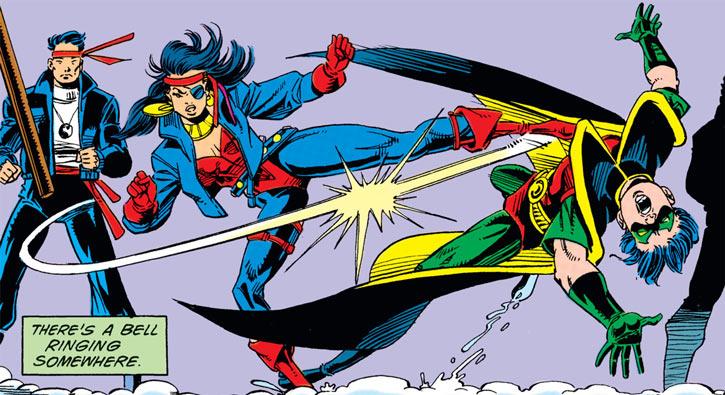 Lynx kicks Robin (DC Comics)