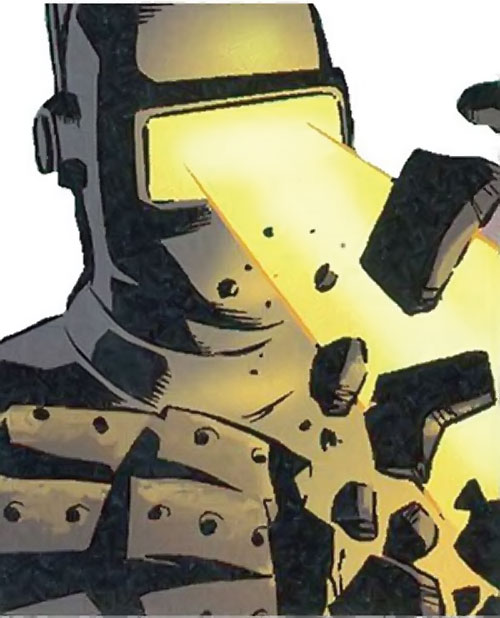 M11 the human robot (Agents of Atlas character) (Marvel Comics) energy blast from visor