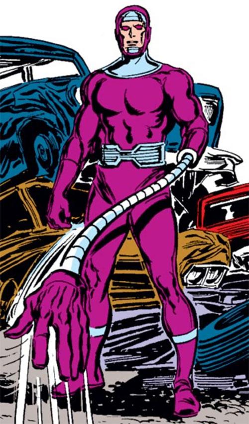 Machine Man (Marvel Comics) with his telescopic arms