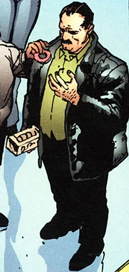 Dino Manolis (Stormwatch PHD) (Wildstorm Comics) eating a donut