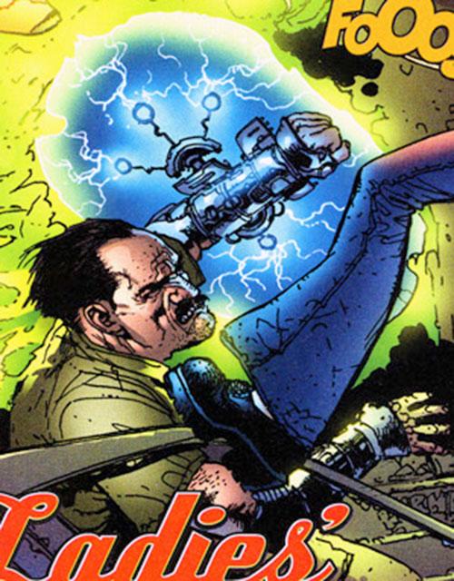 Dino Manolis (Stormwatch PHD) (Wildstorm Comics) using his force shield