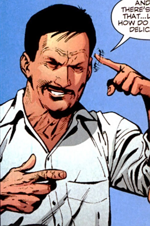 Dino Manolis (Stormwatch PHD) (Wildstorm Comics) making a crazy gesture