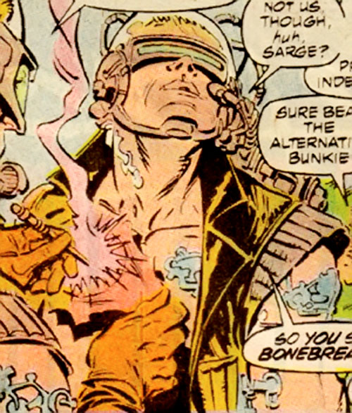 Macon of the Reavers (X-Men enemy) (Marvel Comics) being repaired