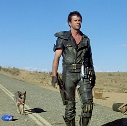 Mad Max (Mel Gibson) and his mutt on the road