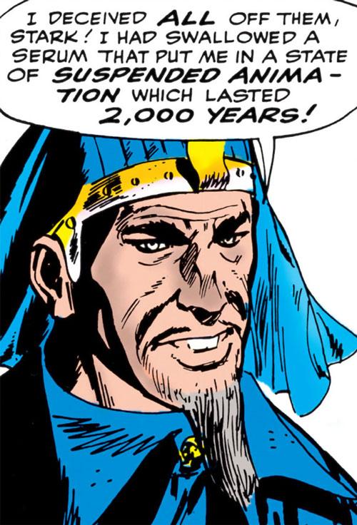 Mad Pharaoh - Marvel Comics - Iron Man - Tales of Suspense - face closeup