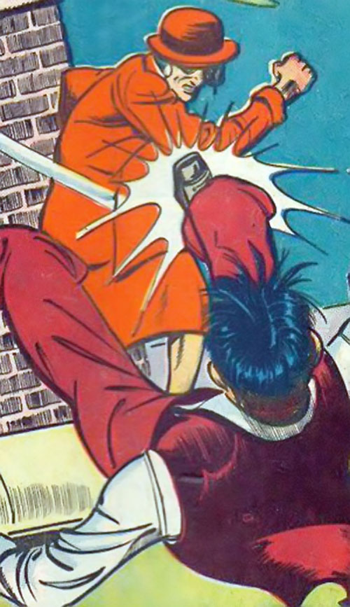 Madam Fatal (Quality Crack Comics) punches a dude