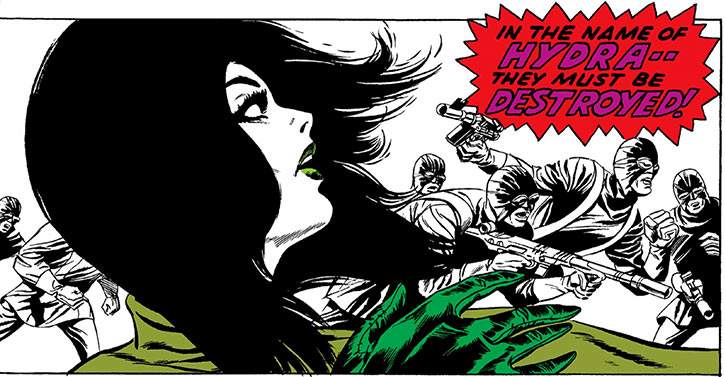 Madame Hydra (Viper) (Marvel Comics) earliest Captain America - dramatic white