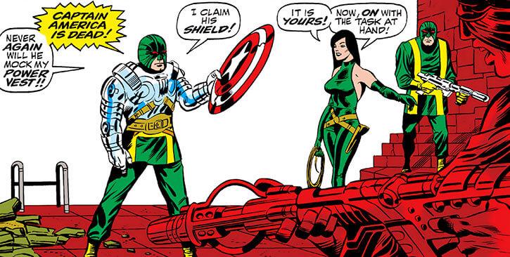 Madame Hydra (Viper) (Marvel Comics) earliest Captain America - power vest and shield
