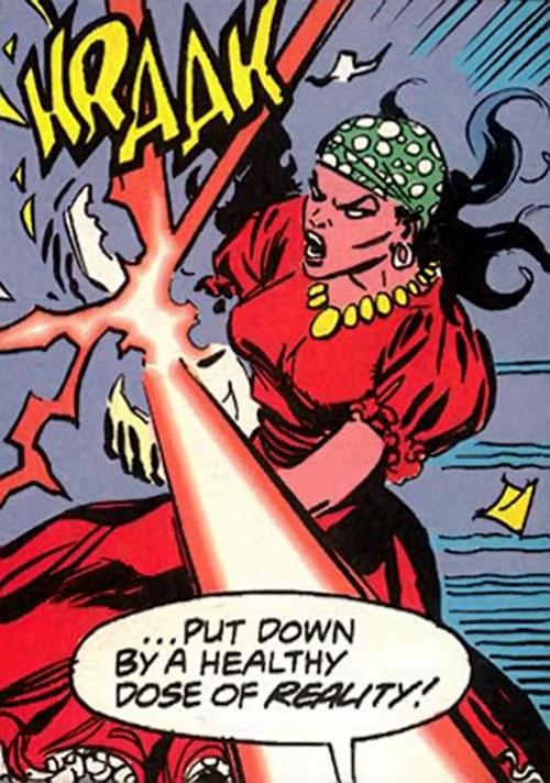 Madame Jasmine of HYDRA DOA (Marvel Comics) loses her crystal balls