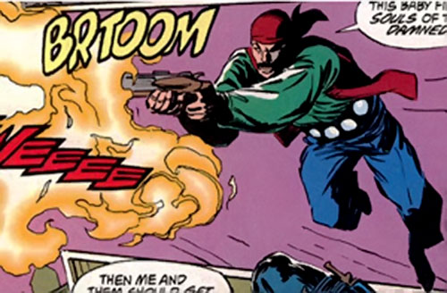 Bronskon of HYDRA DOA (Marvel Comics) firing his sawed-off
