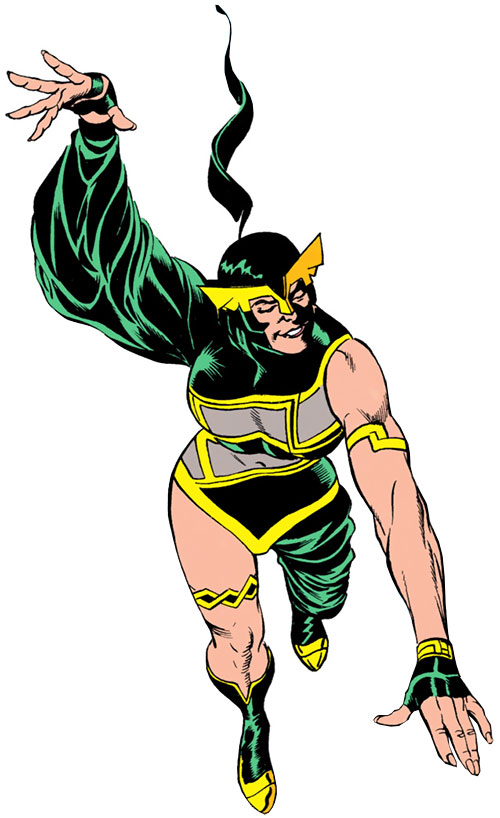 Madame Libertine (Captain Marvel enemy) (DC Comics) in flight