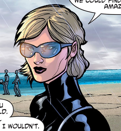 Nazi troops on Themyscira (Wonder Woman enemies) (DC Comics) - female lieutenant face closeup