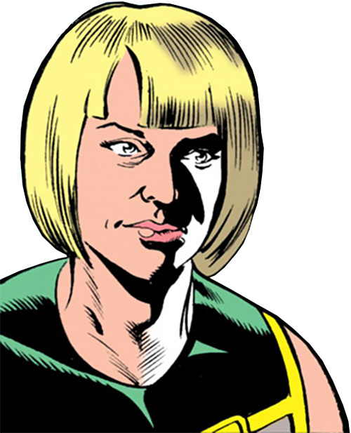 Madame Libertine (Captain Marvel enemy) (DC Comics) face closeup