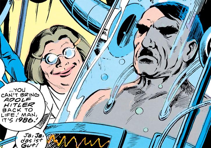 Madame Ovary and a clone of Adolf Hitler
