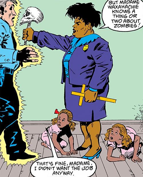 Madame Waxahachie (DC Comics) (Deadman) vs. zombie cop