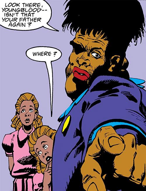 Madame Waxahachie (DC Comics) (Deadman) pointing