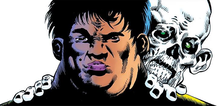 Madame Waxahachie (DC Comics) (Deadman) and Deadman, looking determined