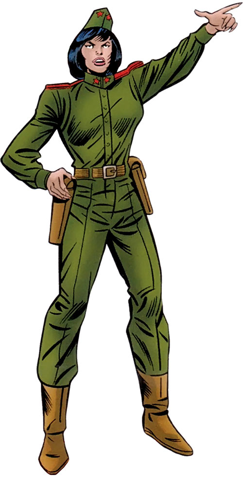 Madame X (Marvel Comics) Soviet uniform