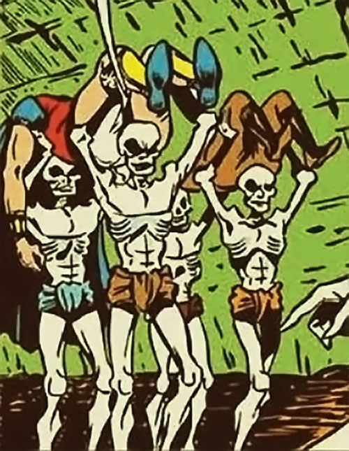 The zombies of Madame la Morte (Marvel Boy enemy) (Atlas Comics)