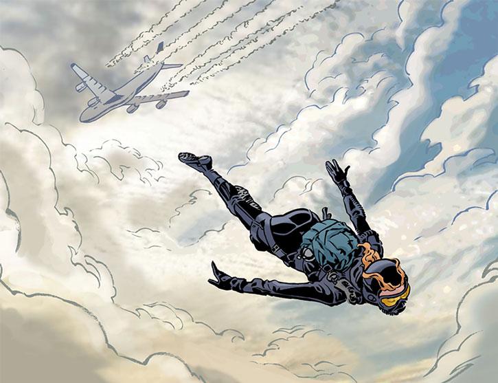 Mademoiselle Marie (Josephine Tautin) parachuting