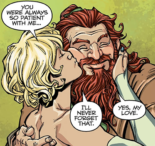 Magister Maevaris Tilani - Dragon Age comics - Tevinter - With her husband Thorold