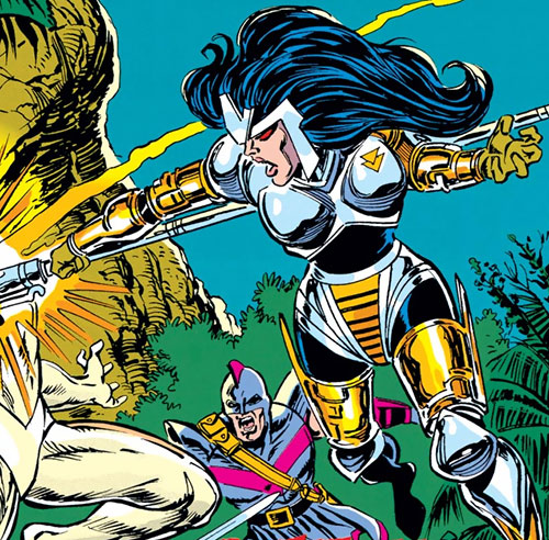 Magdalene of the Gatherers (Avengers enemy) (Marvel Comics) and Swordsman