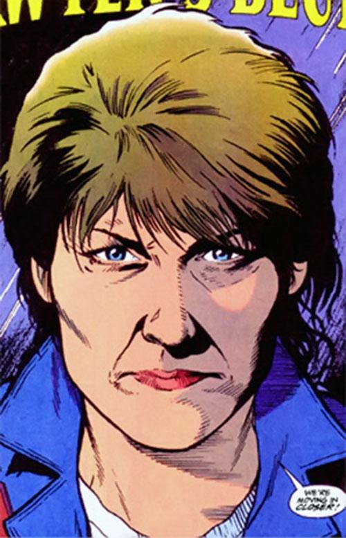 Maggie Sawyer of the Metropolis SCU (DC Comics) face closeup