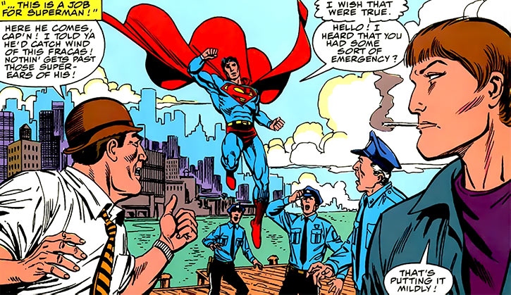 Maggie Sawyer - DC Comics - Superman - with Turpin and uniformed cops