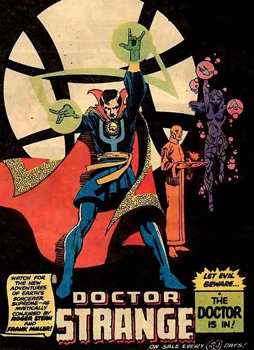 Doctor Strange Marvel Comics old advertisement