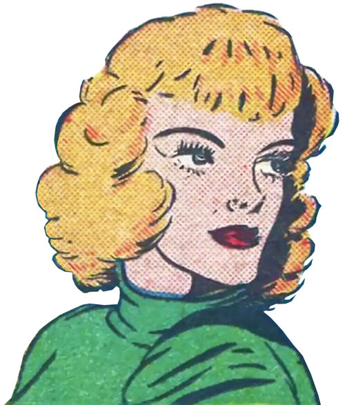 Magician from Mars (Centaur comics) portrait dressed in green